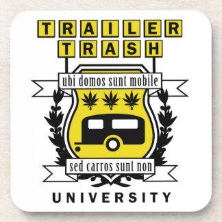 TRAILER TRASH UNIVERSITY BEVERAGE COASTERS