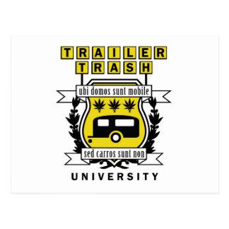 TRAILER TRASH UNIVERSITY POSTCARD