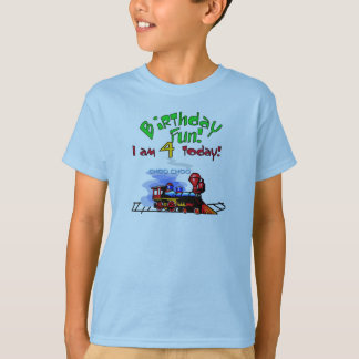 Train 4th Birthday Tshirts and Gifts