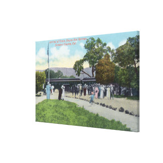 Train Arrival at Boyes Hot Springs Canvas Print