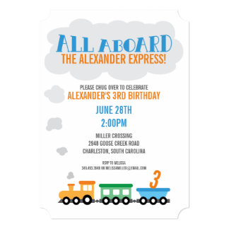 Shop Zazzle's selection of transport birthday invitations for your party!