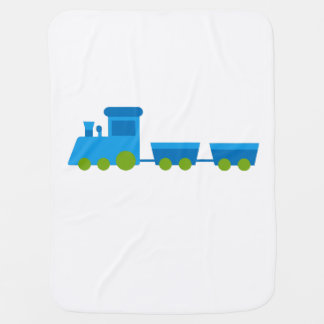 Train Blanket - Boys Train Graphic Pram blanket