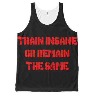 train insane All-Over print tank top
