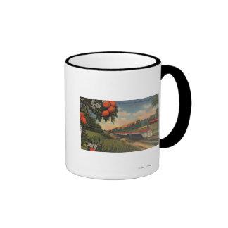 Train- Orange Blossom Special Ringer Mug