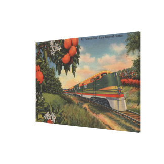 Train- Orange Blossom Special Stretched Canvas Prints