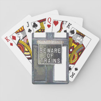 TRAIN STATION PLAYING CARDS