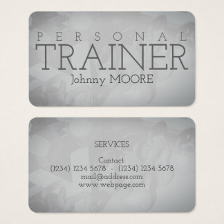 Trainer gym weights style image cover business card