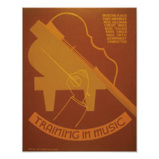 Training In Music Print