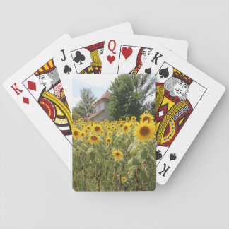 Tramp (scenery which has sunflower) playing cards