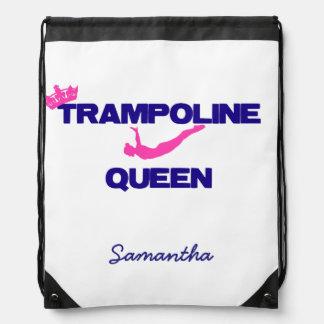 Trampoline Queen Drawstring Bag