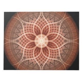Trance Lotus Mandala Notepad