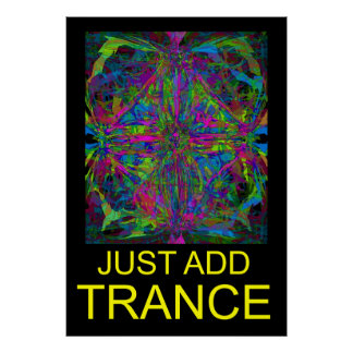 Trance music poster