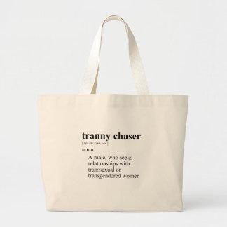 TRANNY CHASER JUMBO TOTE BAG