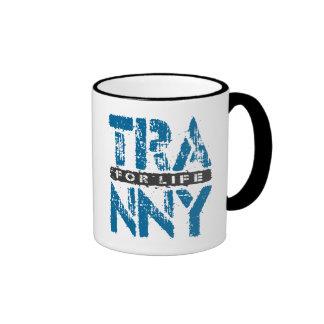 TRANNY For Life - Reliable Car Transmissions, Blue Ringer Mug