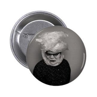 tranny granny 6 cm round badge