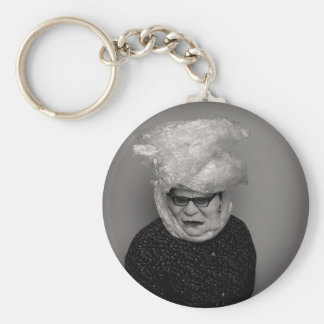 tranny granny basic round button key ring