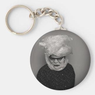 tranny granny basic round button key ring