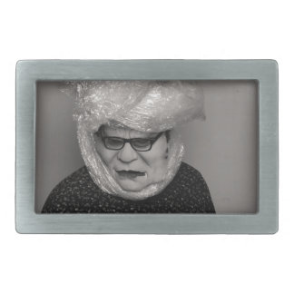 tranny granny rectangular belt buckle