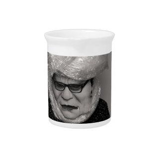 tranny granny beverage pitcher