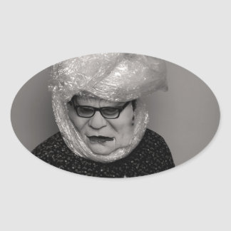 tranny granny oval sticker