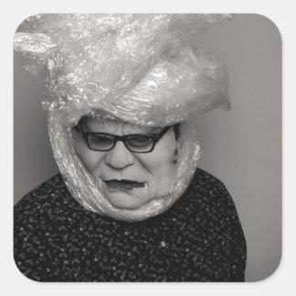 tranny granny square sticker
