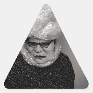 tranny granny triangle sticker