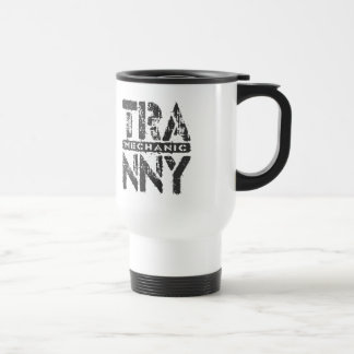 TRANNY Mechanic - Love Rebuilt Transmissions, Onyx Stainless Steel Travel Mug