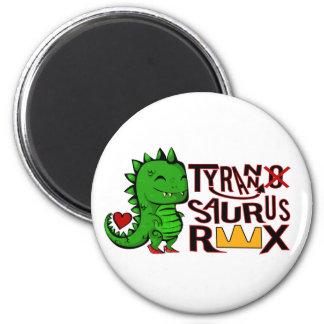 Tranny Saurus Rex 6 Cm Round Magnet