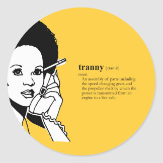 TRANNY TRANSMISSION STICKER