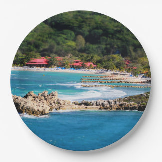 Tranquil Island Paradise Labadee Haiti Paper Plate