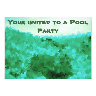 Tranquil Reflections Pool Party Invitations