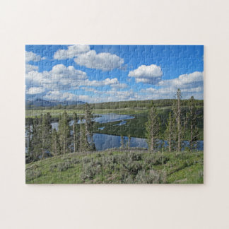 Tranquil Yellowstone River Scenic Puzzle