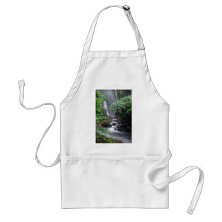 Tranquility cascading waterfall Costa Rica Adult Apron