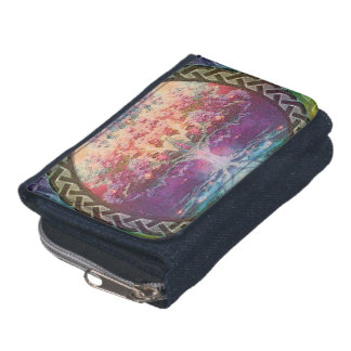 Tranquility Tree of Life in Rainbow Colors Wallet