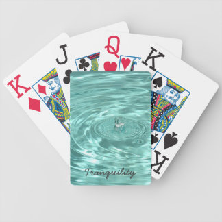 Tranquility water drops ripples Playing Cards