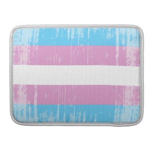 TRANS FLAG DISTRESSED -.png MacBook Pro Sleeves