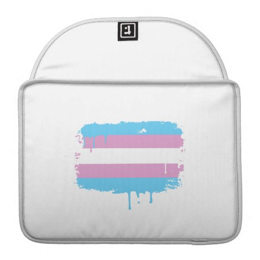 TRANS FLAG DRIPPING SLEEVE FOR MacBook PRO