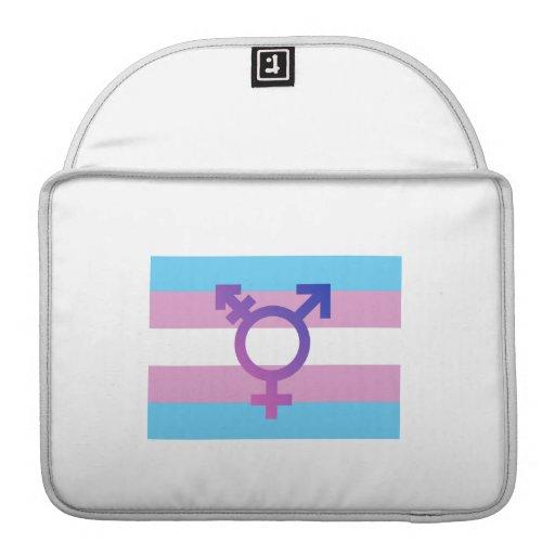 TRANS FLAG ORIGINAL WITH SYMBOL SLEEVE FOR MacBook PRO