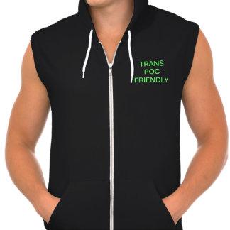 Trans POC Friendly Sleeveless Hoodie