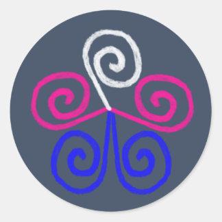 Trans Pride Round Sticker