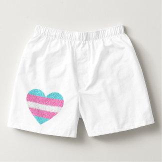 TRANSGENDER MOSAIC HEART Boxer Underwear Boxers