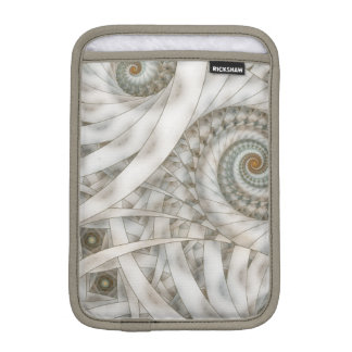 """Translucency"" Pastel Green Spiral Fractal iPad Mini Sleeve"