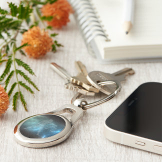 Translucent Libra Key Ring