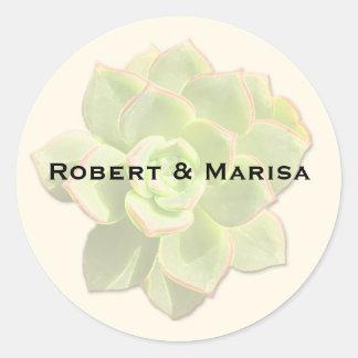 Translucent Succulent Gift Favor Stickers