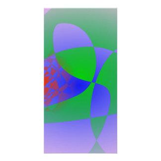 Transparent Green on Lavender Background Photo Card