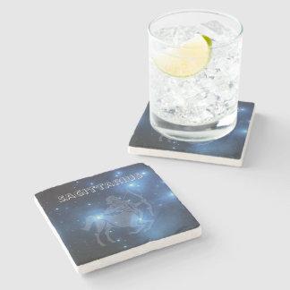 Transparent Sagittarius Stone Coaster