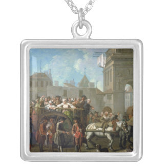 Transport of Prostitutes Silver Plated Necklace