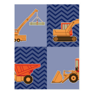 Transportation Heavy Equipment – Collage Postcard