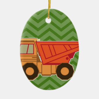 Transportation Heavy Equipment Dump Truck Christmas Ornament