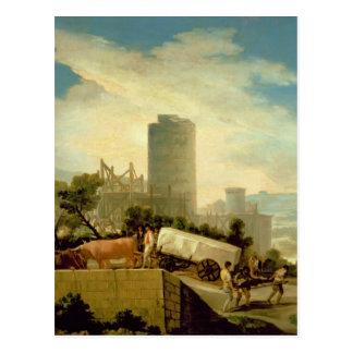 Transporting a Stone Block, 1786-87 Postcard